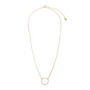Circle Pendant Chain Necklace