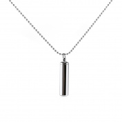FENICAL Stainless Steel Pill Case Holder Cylinder Cremation Urn Memorial Pendant Necklace Keepsake