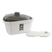 Saveur et Degustation kc2411 Terrine with Lid and Press, Ceramic, Grey Red, 7.25 x 12 x 2)