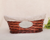 Oval fruit basket home basket hand-woven crafts environmentally friendly furniture storage
