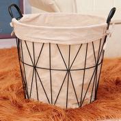 2pcs Nordic laundry clothes storage basket wrought iron woven basket toy storage baskets