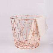 Wrought iron storage basket home / kitchen storage basket laundry clothes basket