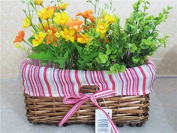 Home storage basket Flower/toy storage basket dirty clothes hand-woven baskets , Red