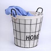 Wrought iron hamper storage bucket metal storage basket bathroom storage bucket