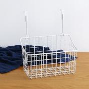 Kitchen storage rack home wardrobe / door / office file rack shelf -White