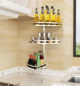 SQL 304 stainless steel 3 layers kitchen racks can be rotated spice rack