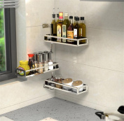 SQL 304 stainless steel spice rack can be rotated 3 layers kitchen racks