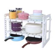WENZHE Kitchen Storage Rack Spice Cooker Shelf Under The Sink Cutlery Storage Multifunction, 55.5 * 30 * 39.5cm