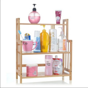 WENZHE Kitchen Storage Rack Spice Cooker Shelf Bathroom Stove Bamboo Multifunction 3 Layers, 41.5 * 18.5 * 49.5 Cm