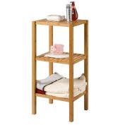 WENZHE Kitchen Storage Rack Spice Cooker Shelf Bathroom Flower Stand Bamboo Multifunction, 37 * 33 * 78.5cm