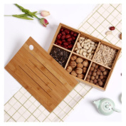 HZZymj-2PCS Fruit plate European-style creative fashion solid wood candy candied fruit hotel wooden gifts fruit bowl box fruit basket , B