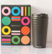 Nespresso Touch Travel Mug Spring 2017 – Insulated Thermos Mug Available in Shale Black – Very Elegant – – Limited. [Special Edition]