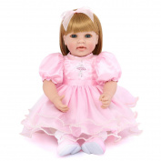 Full Silicone Vinyl Reborn Baby Doll Realistic Girl Babies Dolls 22 Inch 55 Cm Lifelike Princess Kids Toy Children Birthday Gift