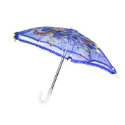 Sharplace Handmade Mini Dark Blue Umbrella for 46cm American Girl Our Generation Doll Clothes