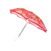 Sharplace Handmade Mini Red Umbrella for 46cm American Girl Our Generation Doll Clothes