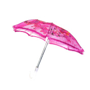 Sharplace Handmade Mini Rose Red Umbrella for 46cm American Girl Our Generation Doll Clothes