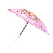 Sharplace Handmade Mini Pink Umbrella for 46cm American Girl Our Generation Doll Clothes
