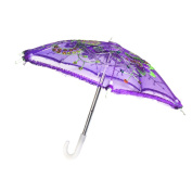 Sharplace Handmade Mini Purple Umbrella for 46cm American Girl Our Generation Doll Clothes