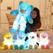 RUNGAO 30cm Colorfu Light Up LED Bear Stuffed Animals Plush Toy Pink