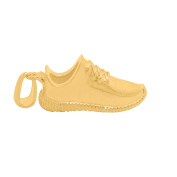 Mens 3.2cm 14k Gold Plated Yeezy Shoe Pendant and 60cm Chain