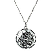 Floating Disc Spinning Pendant Silver Chain Necklace Jewellery Charm - Sister