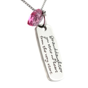 Granddaughter Pendant - Granddaughter You Stole Our Heart From the Very Start