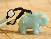 Jade Elephant Necklace-red string