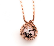 Essential Oil Diffuser Aromatherapy Necklace Rose Gold Small Round Locket Izzybell Jewellery