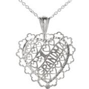 Sterling Silver #1 Grandma Pendant Necklace, 46cm