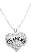 """Grandma"" Crystal Heart Necklace, Safe-Hypoallergenic, Nickel, Lead, & Cadmium Free!"