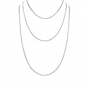 925 Sterling Silver Pendant Chains for Women, Set of Three