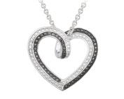 Black & White Diamond Accent Reversible Necklace