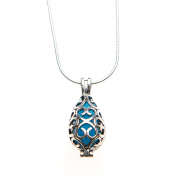 Essential Oil Diffuser Aromatherapy Necklace Silver Teardrop by Izzybell Jewellery
