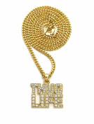 "Unique Fashion 21 Iced Out THUG LIFE Pendant 3mm 24"" Cuban Chain Hip Hop Necklace"