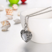 April Crystal Heart Cremation Jewellery Keepsake Memorial Urn Necklace Ash holder