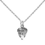 Sterling Silver Acorn Pendant Necklace, 46cm