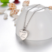 My Husband My Friend Love Heart Cremation Jewellery Keepsake Memorial Urn Necklace