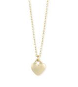 Zad Jewellery Tiny Heart Charm Pendant Necklace, Gold