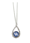 Kentucky Wildcats Teardrop Crystal Blue Charm Necklace Team Logo Jewellery UK