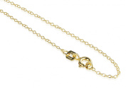 Sterling Silver Gold Tone Link Chain 46cm Inch For Girls And Women By OMG Jewellery