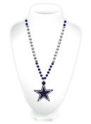 9474665001 Dallas Cowboys Classic Mardi Gras Beads Necklace With Medallion