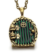 REINDEAR Hobbit Lord of the Rings Locket Shire Movable Door Pendant Necklace