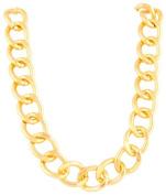 Ladies Aluminium Goldtone 24mm 18 Inch Adjustable Chunky Cuban Chain Necklace