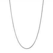 """Men's and Women's Thin 3mm Stainless Steel Round Box Links Necklace Chain, 16""""-40"""""""