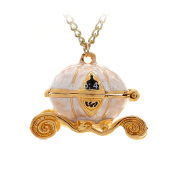 Pumpkin Carriage Necklace Cinderella Style Fairy Tale Tarnish Resistant, J-14