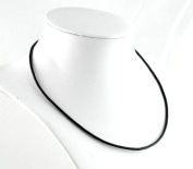 2 Leather Cord Necklaces .925 Sterling Spring Ring Clasp 46cm Inch