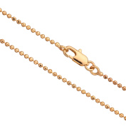 20Inch Necklace Gold Ball Chain, Gold Finished 1.5mm Ball With Lobster Claw Clasp