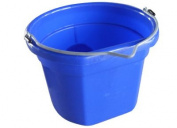 Qingdao Huatian Hand Truck MR8QP/FSB-BLUE Utility Bucket, Flat Sided, Blue Resin, 7.6ls.