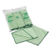 WYPALL Cloths w/Microban, Microfiber 15 3/4 x 15 3/4, Green, 6/Pack