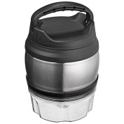 Thermos Food Holder Made in Stainless Steel. 600 ml Capacity, with Practical Carrying Handle. On The Bottom Additional Compartment for Food, 300 ml Capacity.
